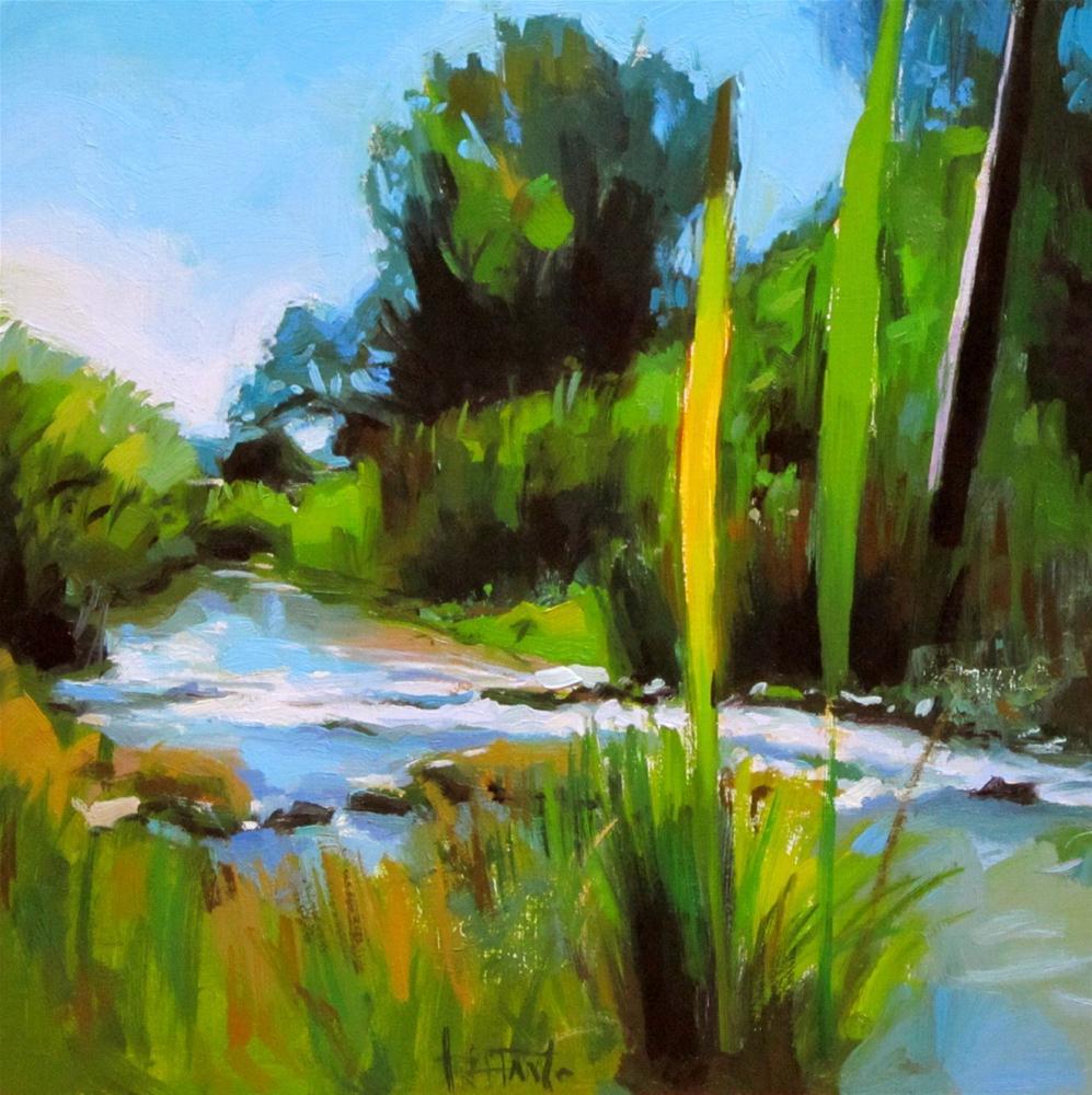 """Running waters"" original fine art by Víctor Tristante"