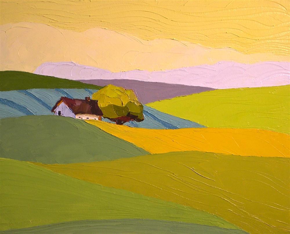 """""""From Field to Field"""" original fine art by Donna Walker"""