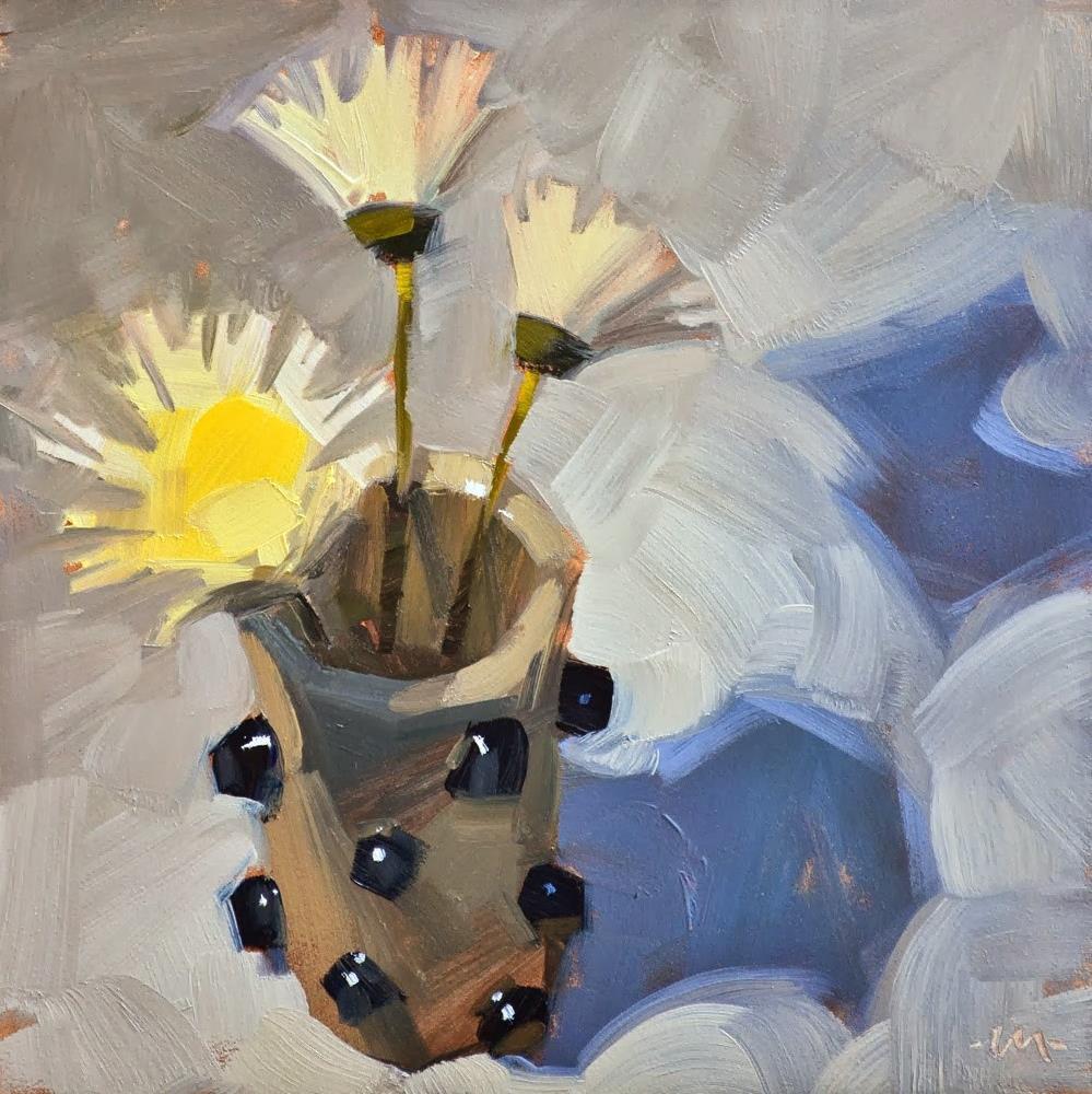 """""""Flower Fun"""" original fine art by Carol Marine"""