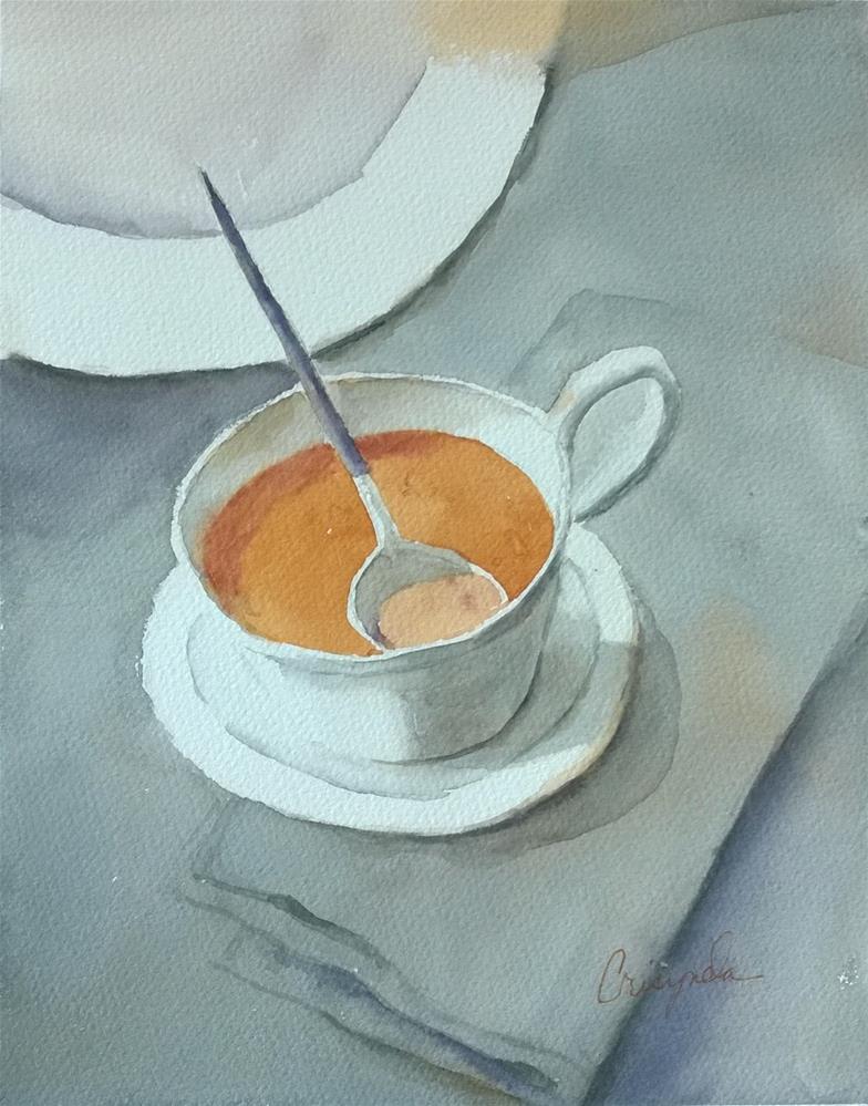 """Soup of the day"" original fine art by Crisynda Buss"