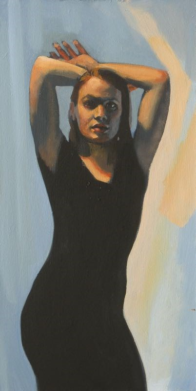 """Black Dress"" original fine art by Peter Orrock"