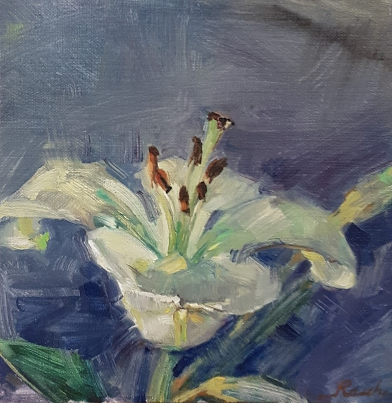 """""""Lily"""" original fine art by Jessie Rasche"""