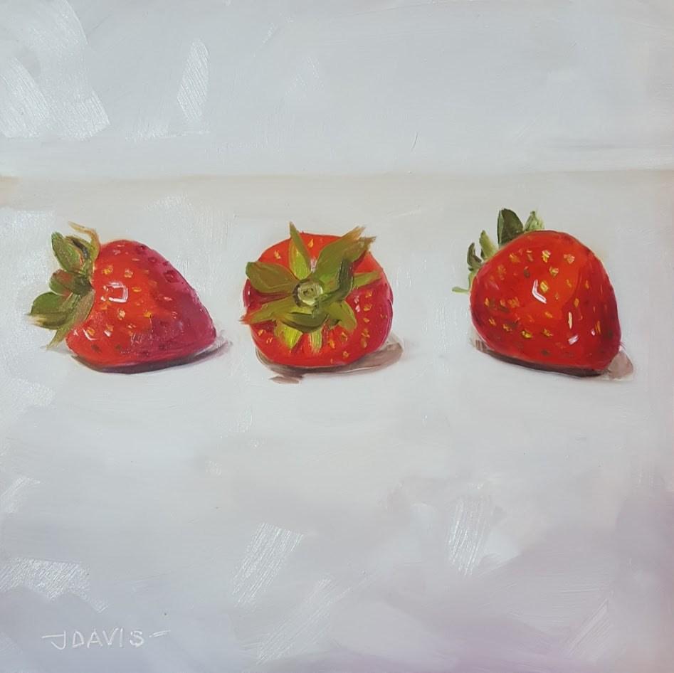 """Berries on Parade"" original fine art by Jacqueline Davis"
