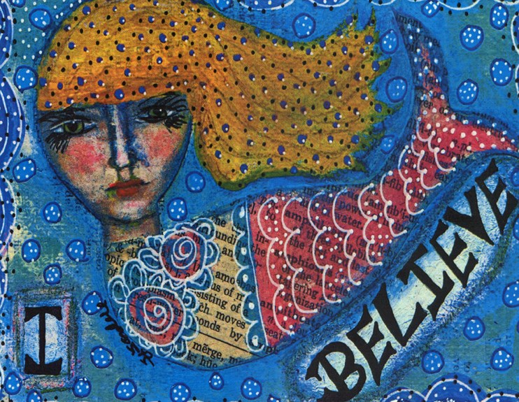 """I Believe"" original fine art by Sonja Sandell"