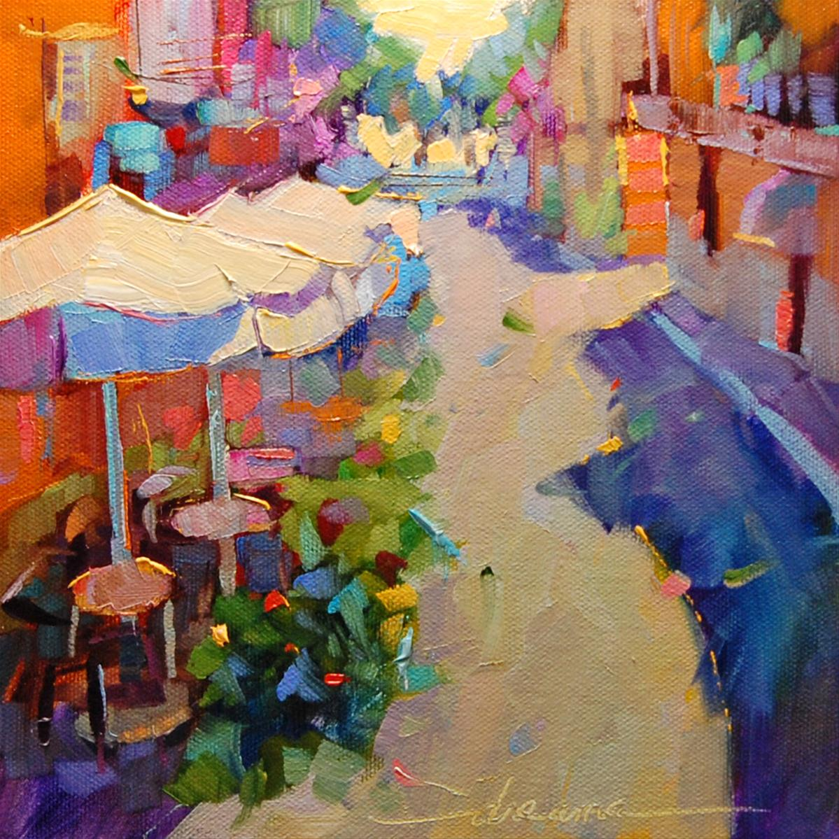 """""""Street Dance SOLD"""" original fine art by Dreama Tolle Perry"""