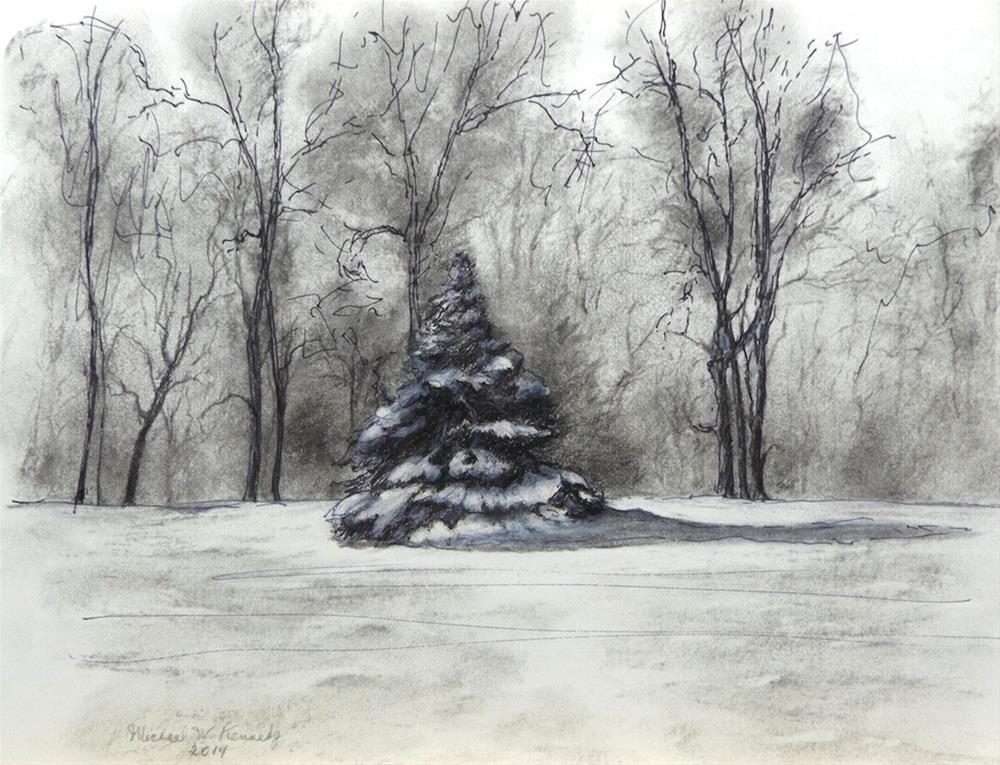 """O Christmas Tree"" original fine art by Michael Kennedy"