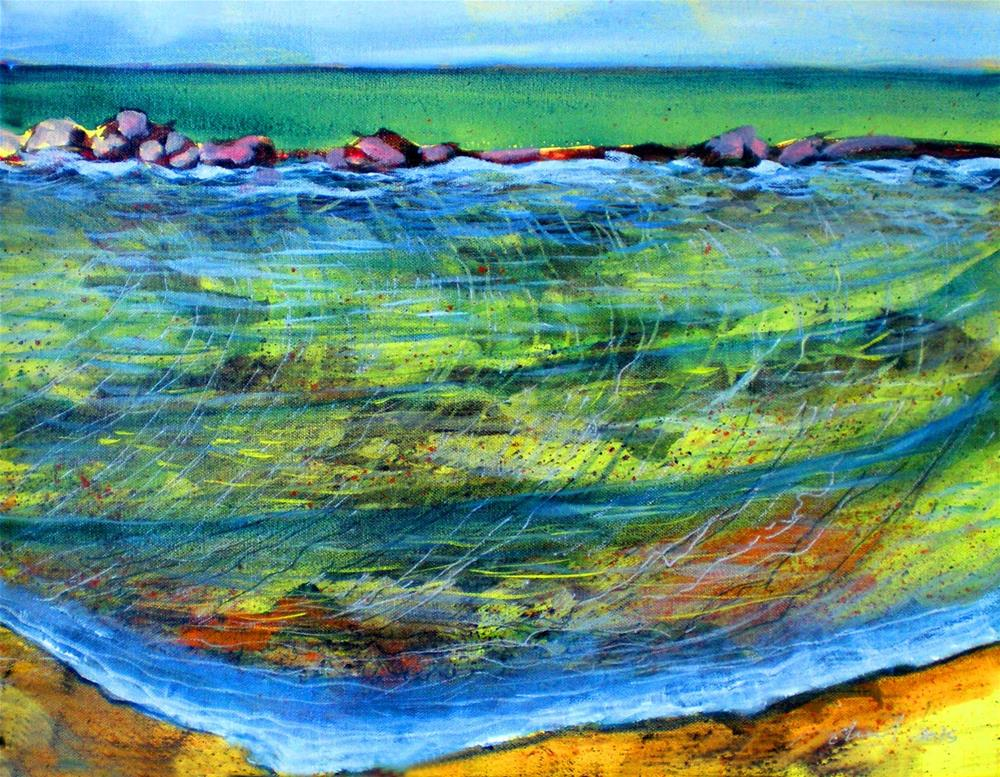 """Wawaloli Shallows - 160907"" original fine art by richard rochkovsky"