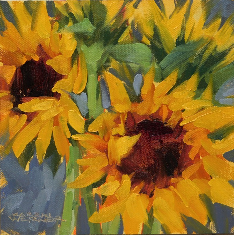 """Cheerful"" original fine art by Karen Werner"