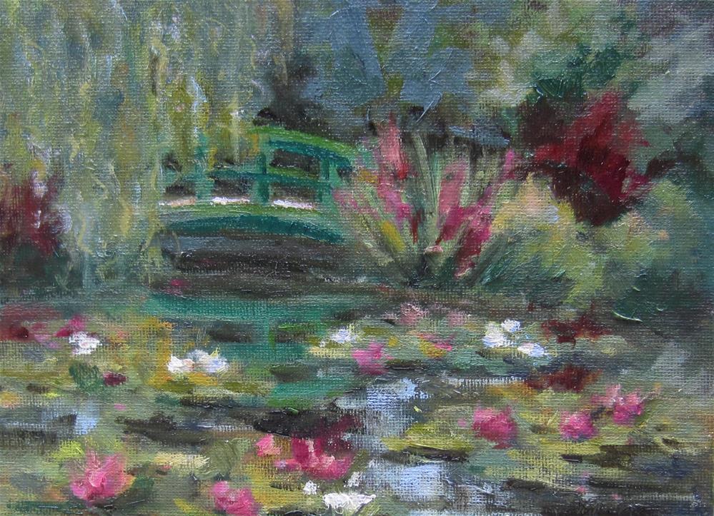 """Monet's Pond"" original fine art by Pat Fiorello"