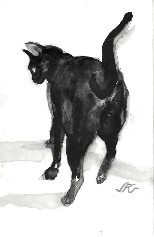 """Daily CAt 112"" original fine art by Jean Krueger"