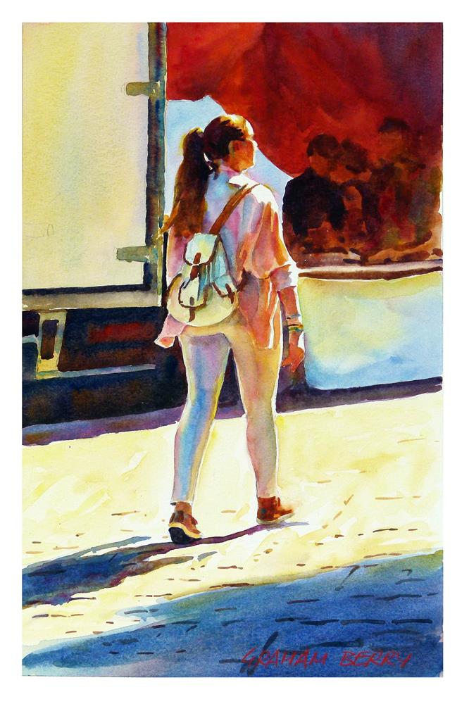 """""""Girl with pony tail."""" original fine art by Graham Berry"""