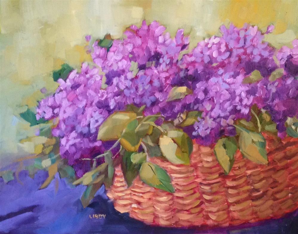 """Basket Case"" original fine art by Libby Anderson"