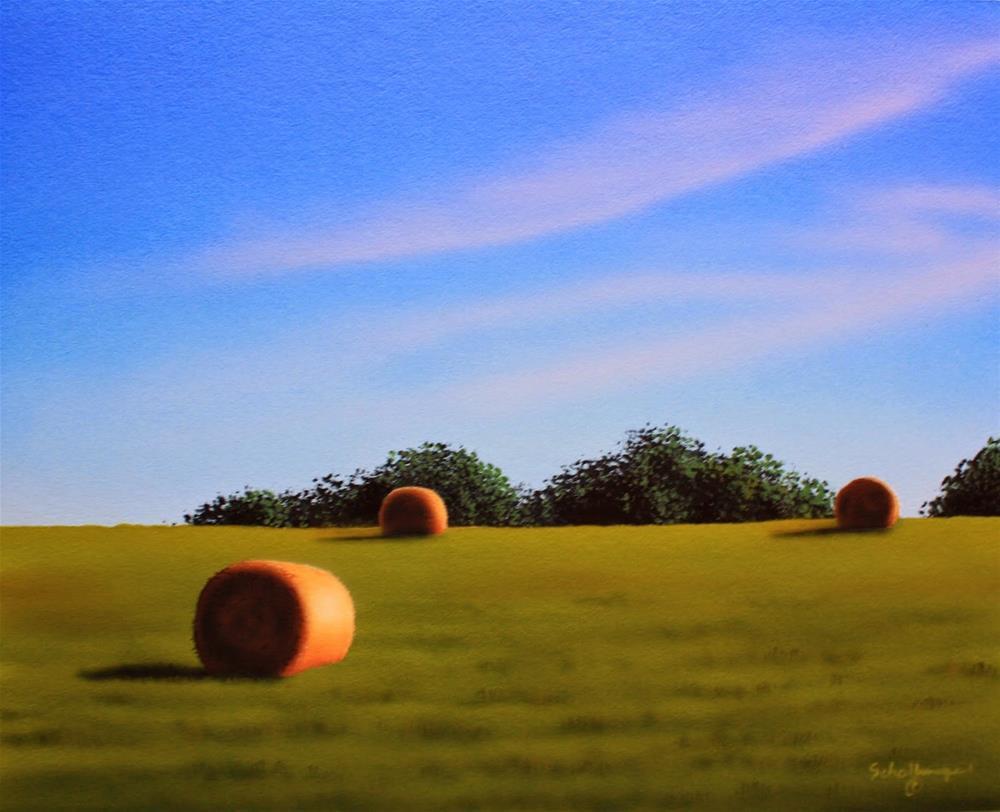 """""""Oak Ridge (Mid-morning)"""" original fine art by Fred Schollmeyer"""