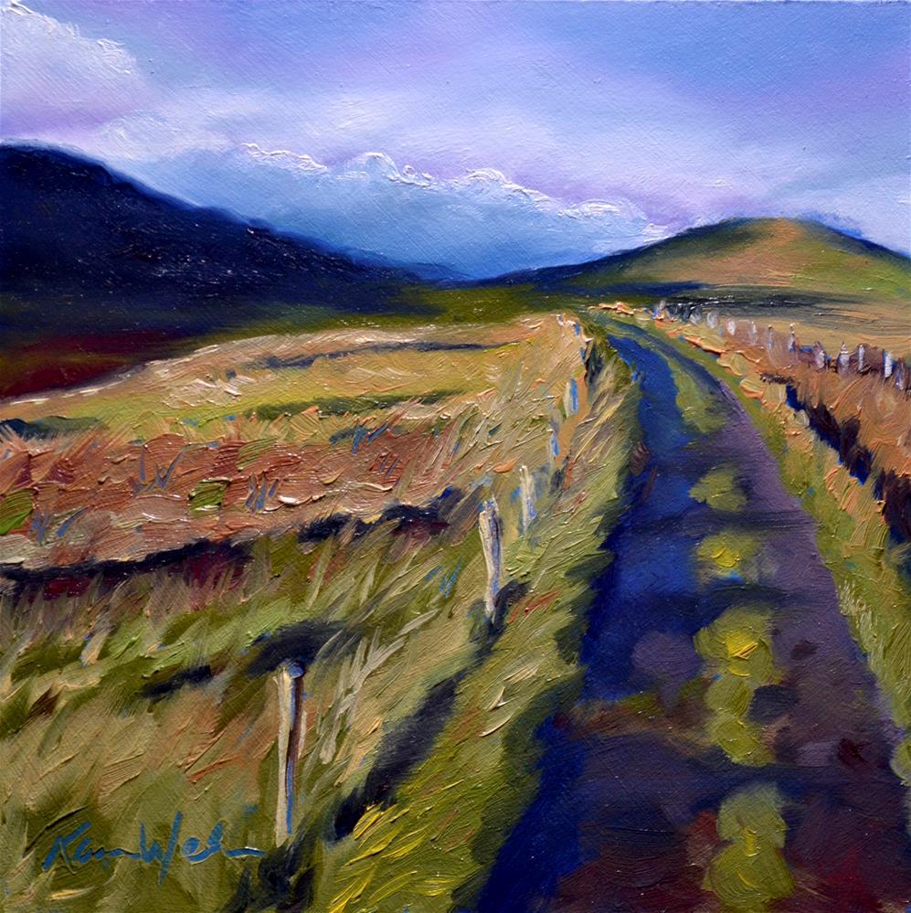 """""""Between two Hills"""" original fine art by Karen Weber"""