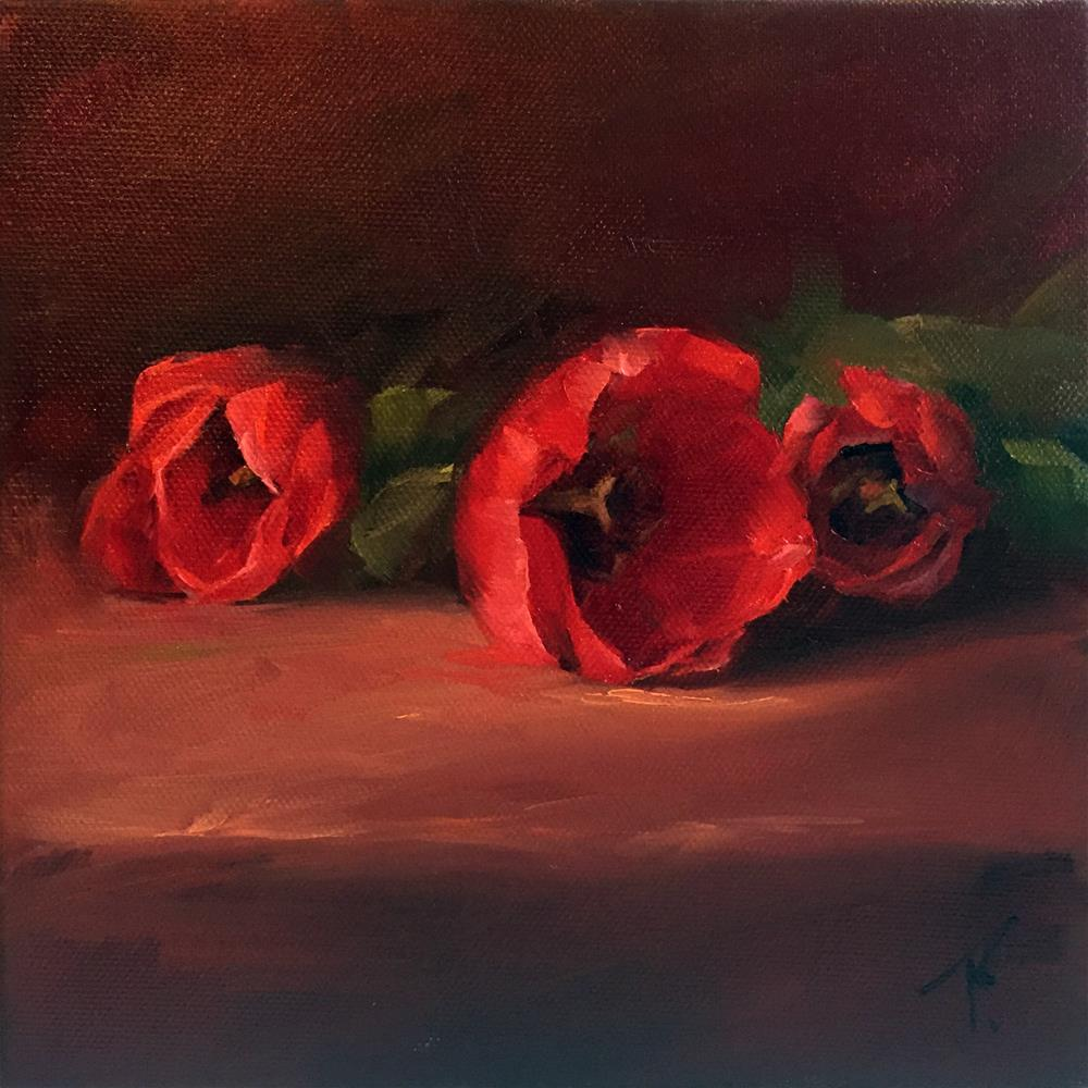"""Study of Red Tulips"" original fine art by Lori Twiggs"