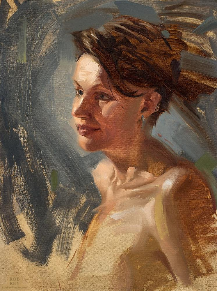 """Kind Face"" original fine art by Rob  Rey"