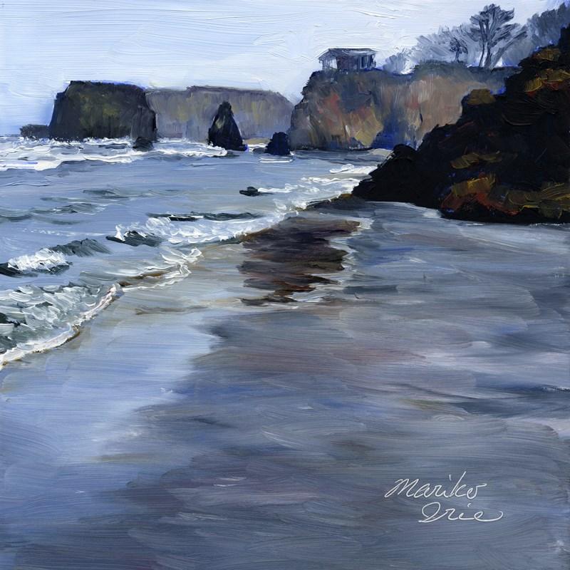 """Quiet Morning Seaside Beach"" original fine art by Mariko Irie"
