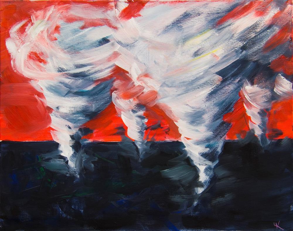 """Apocalyptic Dream"" original fine art by Yulia Kazansky"