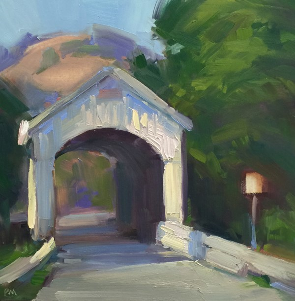 """Covered Bridge Color Play"" original fine art by Patti McNutt"