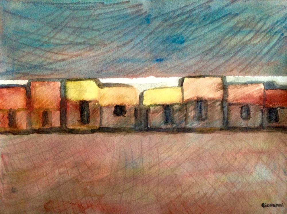 """The town"" original fine art by Giovanni Antunez"