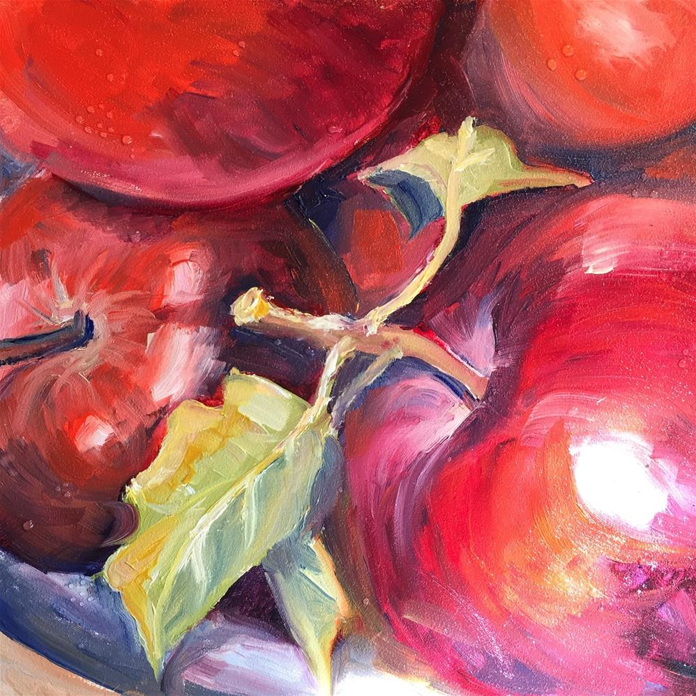 """Apples"" original fine art by Sally Posner"