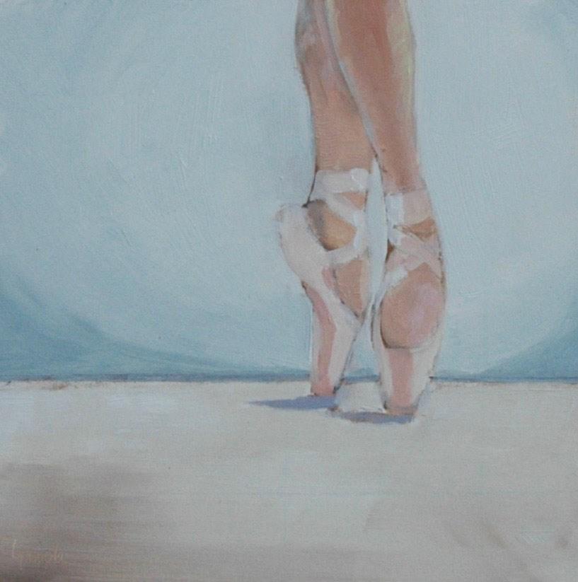 """ON POINTE"" original fine art by Linda Popple"