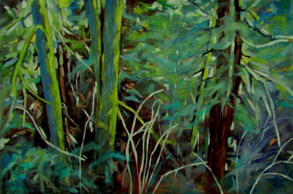 """30 x 20 inch oil A Long Way from Here"" original fine art by Linda Yurgensen"
