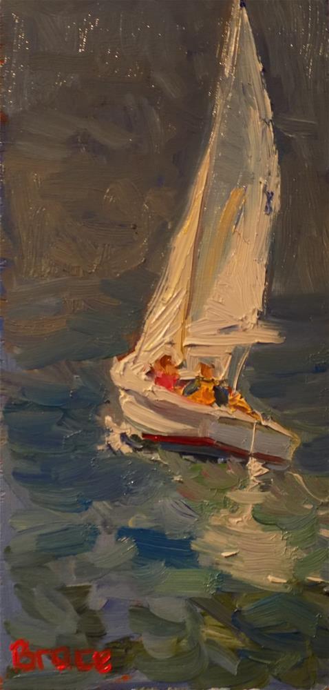 """""""Catching The Wind"""" original fine art by Rita Brace"""