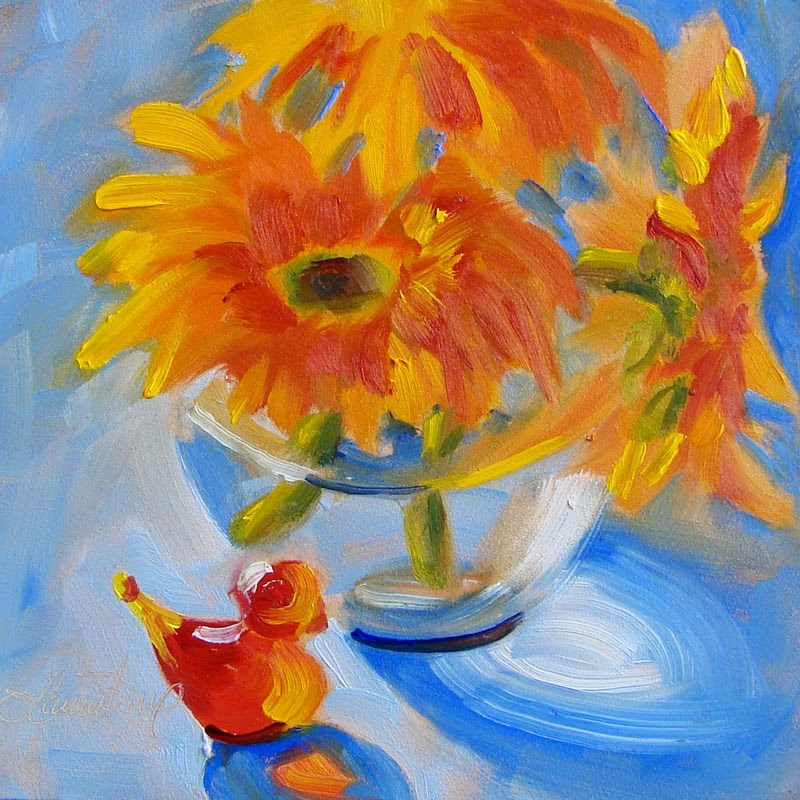 """Beautiful Color Combo"" original fine art by Laura  Buxo"