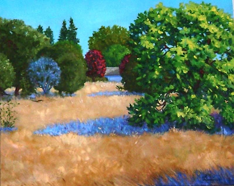 """Cuesta Park Annex, Summer"" original fine art by Patricia Musgrave"