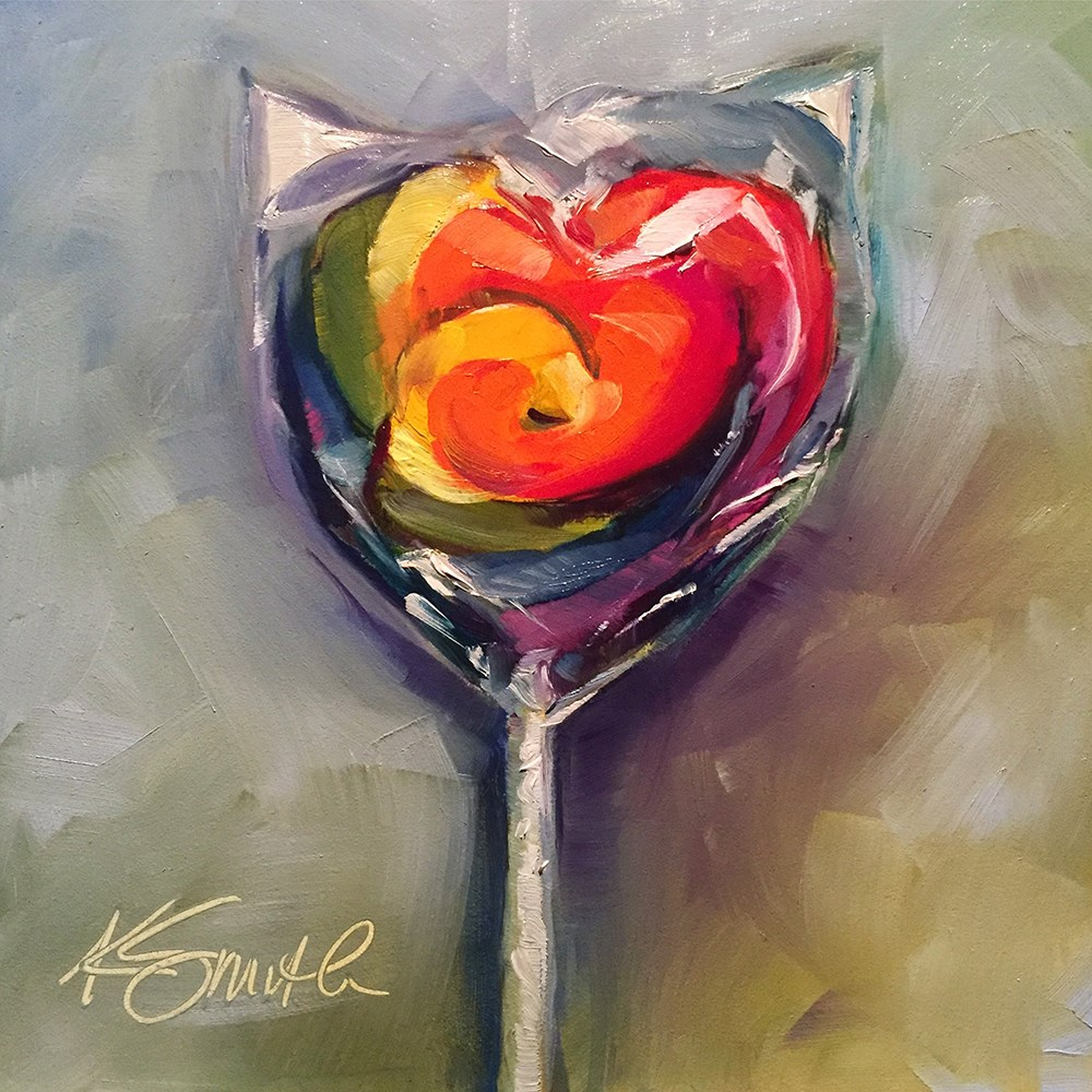 """Heart Lollipop"" original fine art by Kim Smith"