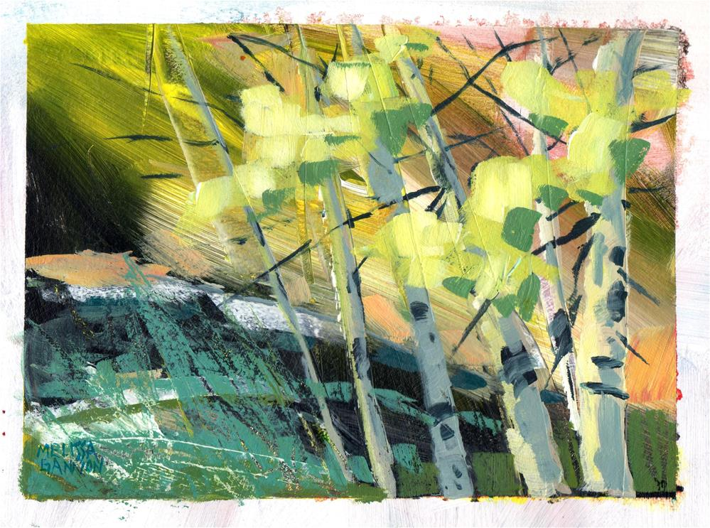 """Trees Along the River"" original fine art by Melissa Gannon"
