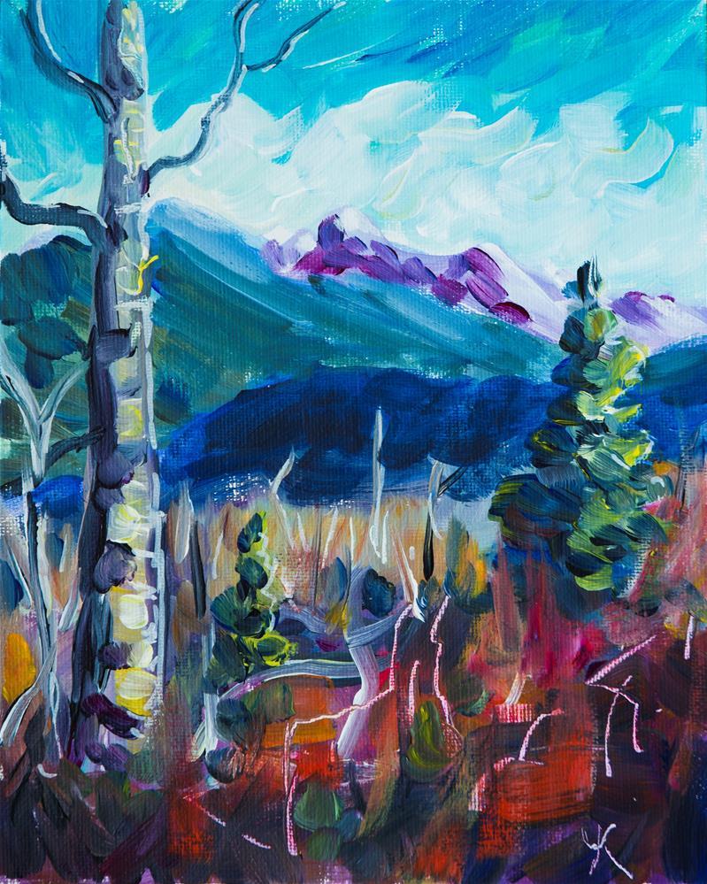 """Alaska Mountains"" original fine art by Yulia Kazansky"
