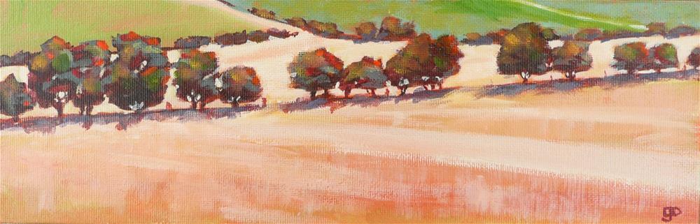"""""""Mallee Trees"""" original fine art by Leanne Owen"""