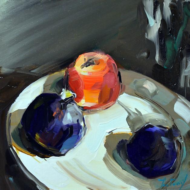 """""""Feigen"""" original fine art by Jurij Frey"""