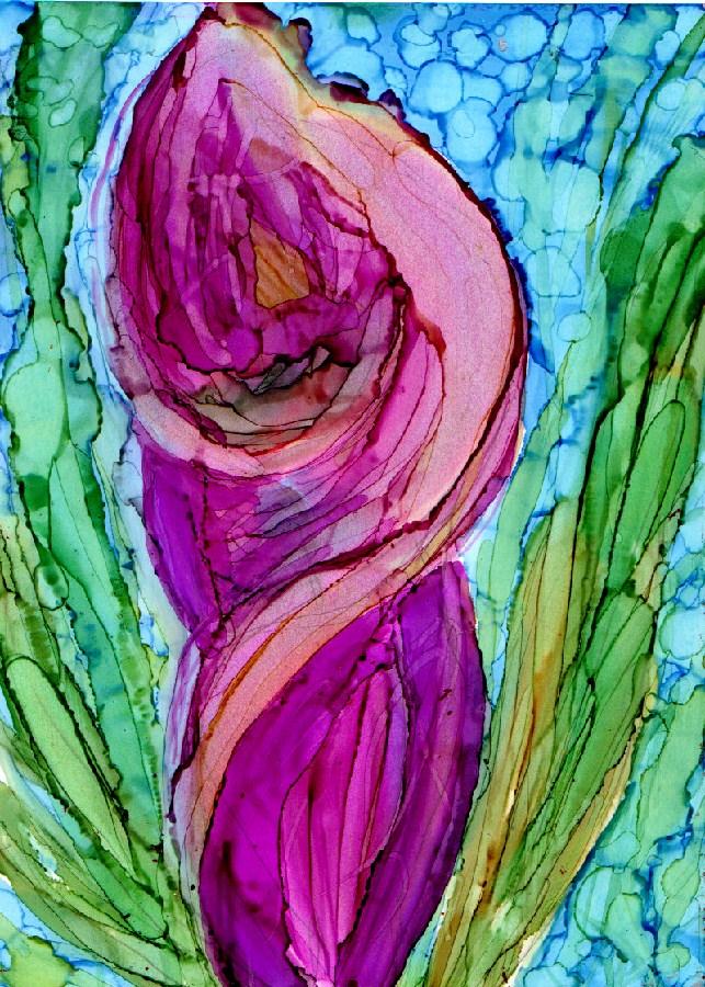 """""""Calla 2"""" original fine art by Kristen Dukat"""