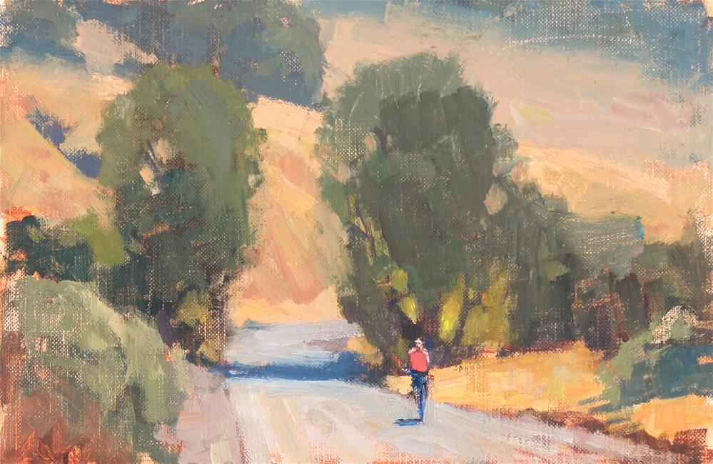 """Hillside Bike Ride"" original fine art by Kristian Matthews"