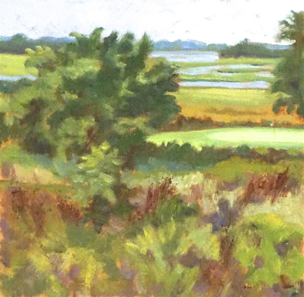 """""""Practice Green at The Briars Club"""" original fine art by Judy Elias"""