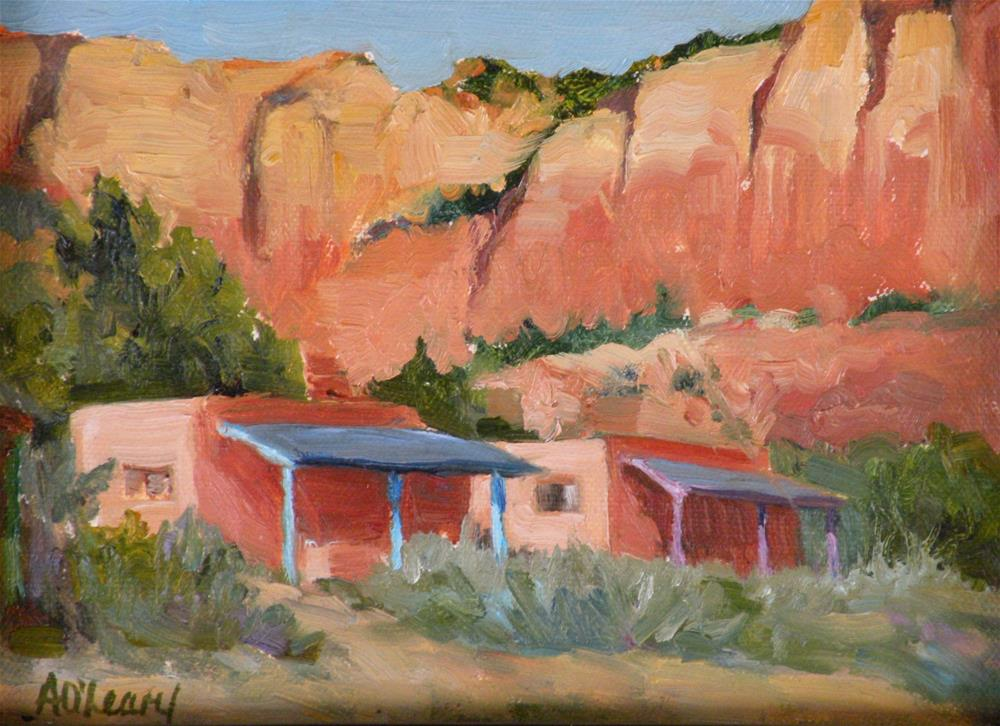 """""""Ghost Ranch Casitas"""" original fine art by Alice O'Leary"""