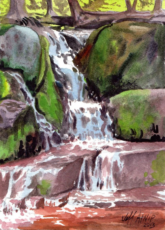 """Small Cascade, Algonquin Park"" original fine art by Jeff Atnip"