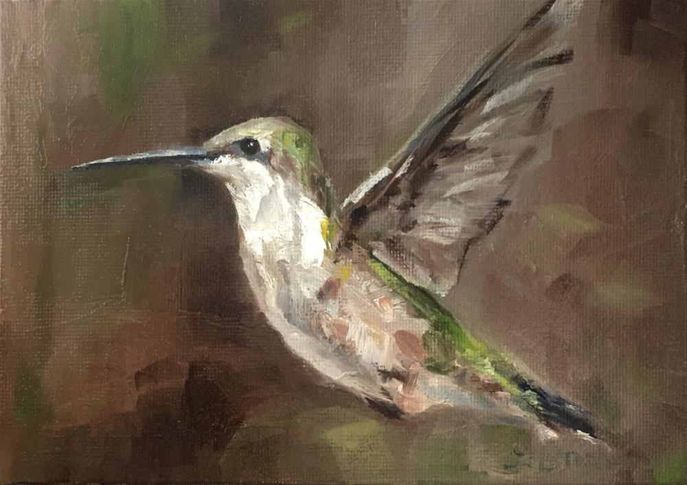 """Hummingbird, Lost and Found"" original fine art by Gary Bruton"