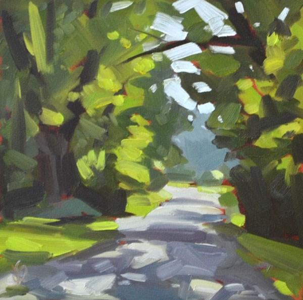 """Morning Walk"" original fine art by Jessica Green"