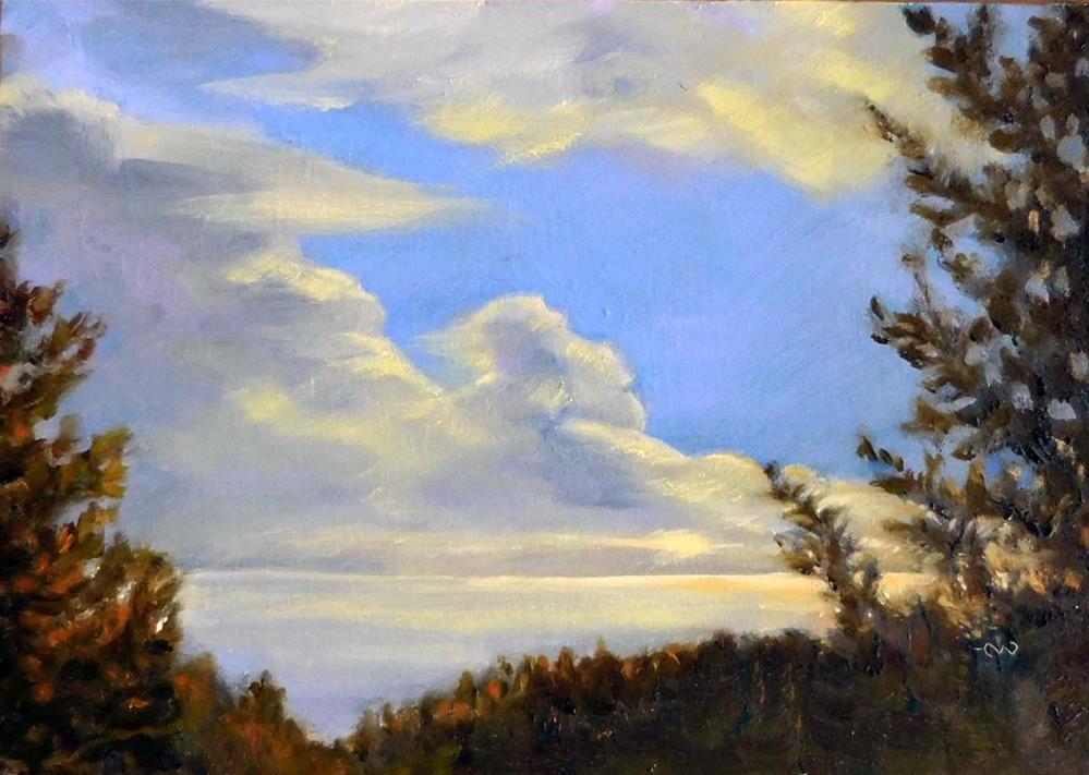 """Gathering Clouds"" original fine art by Cietha Wilson"
