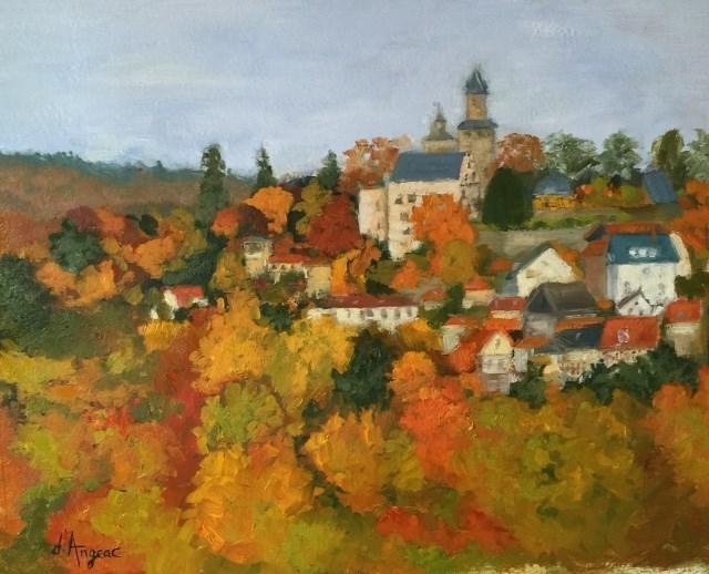 """Kronberg in the Fall"" original fine art by Karen D'angeac Mihm"