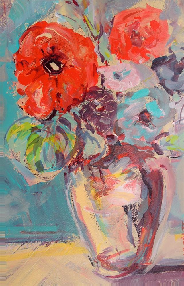 """March Flowers"" original fine art by Mary Schiros"