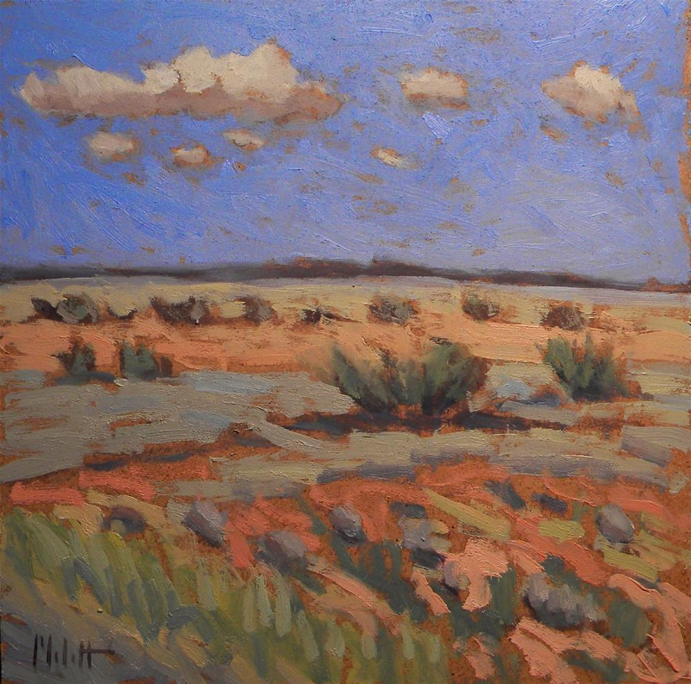 """""""Route 66 view Southwest Painting  Series 2 of 3 Contemporary Impressionism"""" original fine art by Heidi Malott"""