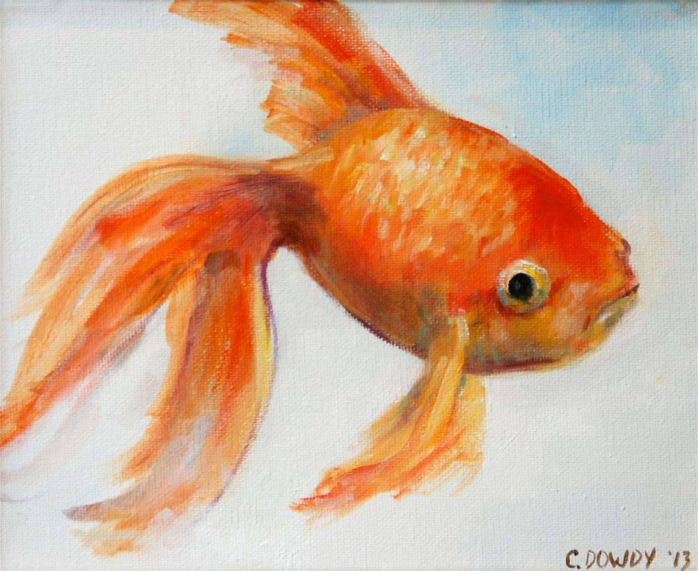 """Funny Grumpy Goldfish Part VII"" original fine art by Christina Dowdy"