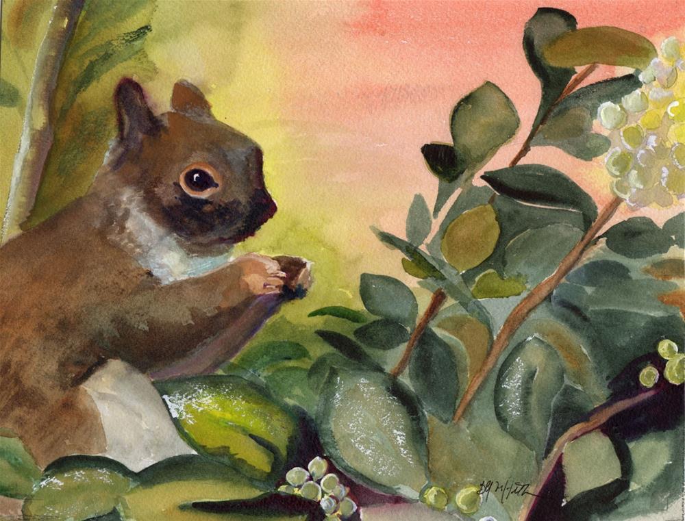 """Squirrel"" original fine art by Bunny Griffeth"