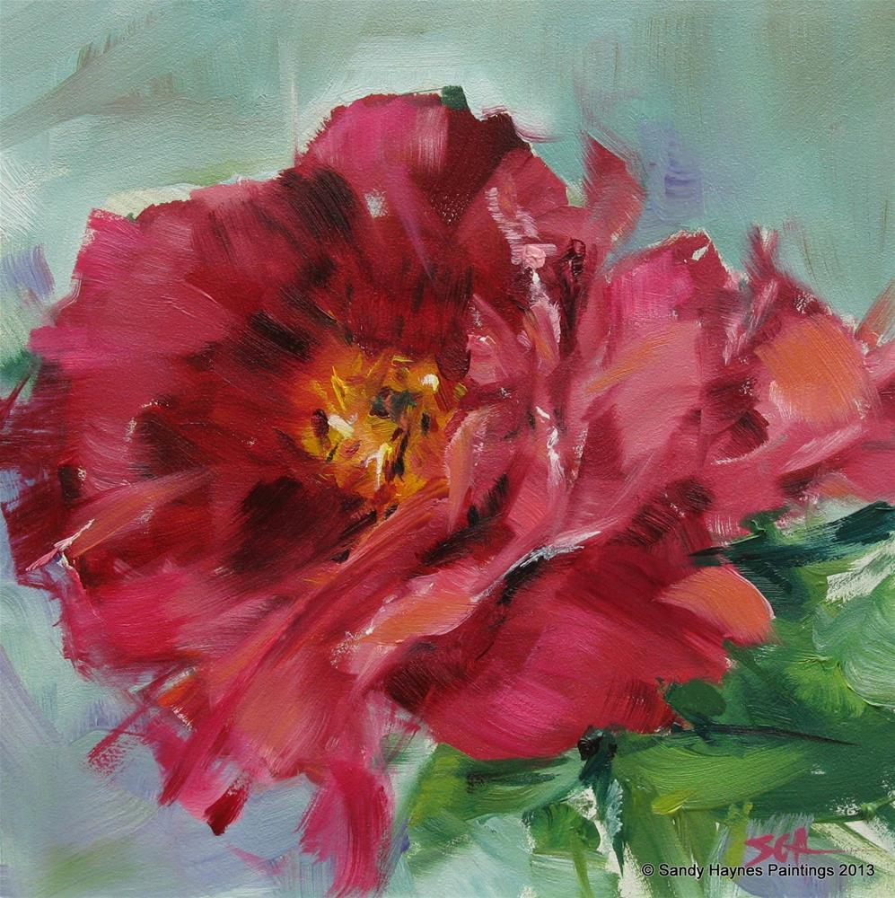 """Symphony in Pink   #131"" original fine art by Sandy Haynes"