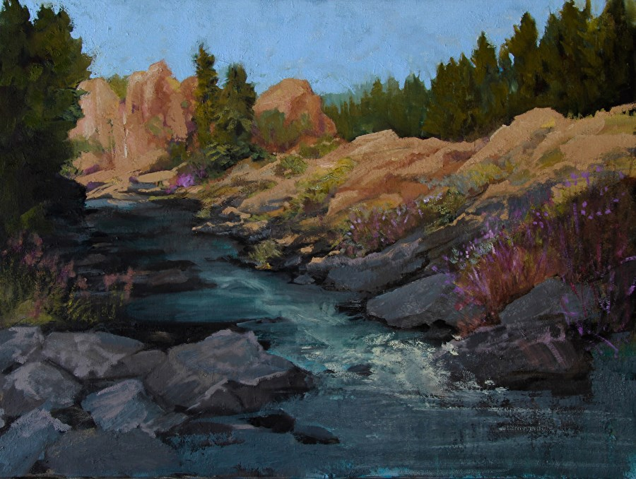"""Mountain Landscape Oil Painting, ""Red Rock Canyon"" by Colorado Artist Susan Fowler"" original fine art by Susan Fowler"